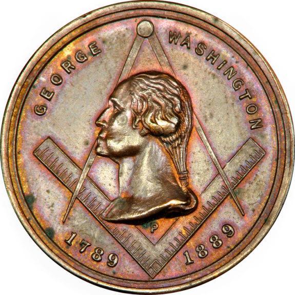 Masonic Centennial Medal 183 George Washington S Mount Vernon
