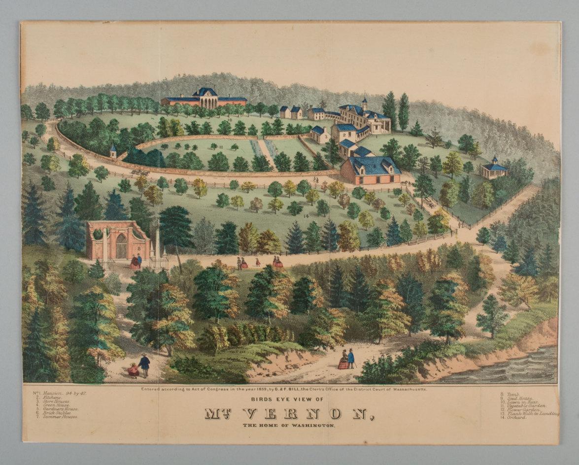 Bird S Eye View Of Mt Vernon Home Of Washington 183 George